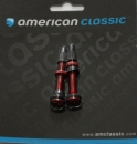 2 tubeless Ventile von American Classic in rot eloxiert