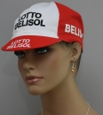 Retro Kappe Lotto Belisol rot / weiß